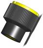 Plastic Knurled Knob - Yellow - Steel Insert - M4 -- 06092-1057