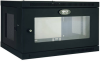 SmartRack 6U Low-Profile Switch-Depth Wall-Mount Rack Enclosure Cabinet with Clear Acrylic Window -- SRW6UG -- View Larger Image