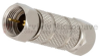 Precision F Male (Plug) to F Male (Plug) Adapter, Nickel Plated Brass Body, 1.17 VSWR -- FMAD1066