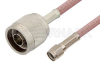 Reverse Polarity SMA Male to N Male Cable 12 Inch Length Using RG142 Coax -- PE34361-12 -Image