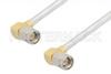 SMA Male Right Angle to SMA Male Right Angle Cable 18 Inch Length Using PE-SR402FL Coax -- PE3417-18 -Image
