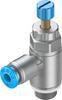 One-way flow control valve -- GRLA-1/8-QS-4-RS-D -Image
