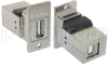 Flanged Panel Mounted USB 2.0 Coupler - Shielded, Type A/B Connec -- ECF504-AB - Image