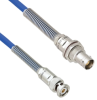 Plenum Cable Assembly TRB 3-Slot Plug to Non-Insulated Bulk Head 3-Lug Cable Jack with Bend Reliefs MIL-STD-1553 .242