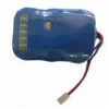 Lithium-ion Battery Pack with Fuel Gauge, Wire and Connector, 11.1V, 4,000mAh for LED Lighting -- LIC18650-4000 3S2P