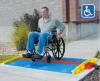 Cross-Guard® ADA Ramps and Rails -- CPRP-3GD-BLU