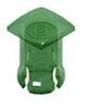 T-1 3/4 Lens Cap-Green -- 8687 - Image