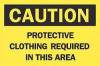 Caution Sign,7 x 10In,BK/YEL,ENG,Text -- 6F982
