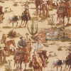 Cowboy Round Up Scenic Tapestry Fabric -- RH-Round Up -- View Larger Image