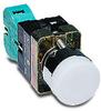Pushbutton, 22mm metal, momentary, LED illuminated, white, 120 ... -- GCX1206-120L