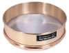 Sieve,8 In,Brass Frame,SS Mesh,No. 1000 -- 5FXA5