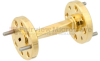 WR-10 45 Degree Waveguide Left-hand Twist Using a UG-387/U-Mod Flange And a 75 GHz to 110 GHz Frequency Range -- SMW10TW1002 - Image