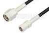 SMA Male to SMB Plug Cable 24 Inch Length Using RG174 Coax -- PE3908-24 -Image