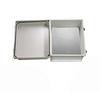 14x12x07 UL Listed Fiberglass Reinf Polyester FRP Weatherproof Outdoor IP66 NEMA 4 Enclosure, Kit bundled w/Non-Metallic Blank MNT PLT Gray -- TEF141207-KIT01 -Image