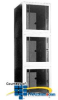Chatsworth Products E-Series MegaFrame Cabinet, Baying,.. -- E2035