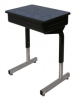 Une-Frame Desk with Lift Lid Book Box and Lotz Armor Edge Top 874AE