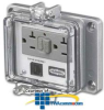 Hubbell Panel-Safe 20A 125V, GFCI with In-Cabinet.. -- PR205E - Image