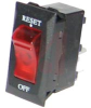 Circuit Protector, Thermal, Lighted, 15Amps, Black Bezel with White Legend, Red -- 70131773