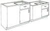 Standard Steel Laboratory Cabinet, Hidden Corner Cabinet w/ Door & Drawer -- 110-SP Series - Image