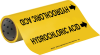 Brady B-946 Black on Yellow Vinyl Self-Adhesive Pipe Marker - 12 in Height - 30 ft Length - Printed Msg = HYDROCHLORIC ACID with Left Arrow - 15546 -- 754476-15546