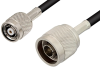 N Male to Reverse Polarity TNC Male Cable 48 Inch Length Using PE-C195 Coax -- PE36362-48 -Image