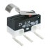 MICRO SWITCH ZX Series Subminiature Basic Switch, SPDT, 125 Vac, 3 A, Simulated Roller Lever Actuator, PCB Snap-in Termination -- ZX40E30E01 -Image