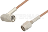 SSMA Male to SSMA Male Right Angle Cable 72 Inch Length Using RG178 Coax -- PE36571-72 -Image
