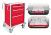 3 Drawer Short Lightweight Aluminum Crash Cart -- USRLA-3612-RED