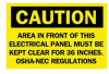Safety Information Sign Self-Adhesive Polyester Caution - Area in Front of this Electrical Panel Must be Kept Clear for 36 Inches -- 75447384827-1
