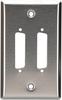 2-Port DB25 Single-Gang Stainless Steel Wallplate -- WP040 - Image