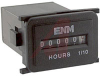 Hour Meter, Quartz, 1.43W x .92H x 2.13D,.5W, 115 VAC, AC, water sealed, 6 digit -- 70000814