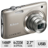 Nikon Coolpix S3100 26262 Digital Camera - 14 MegaPixels, 5x -- 26262
