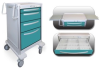 4 Drawer Junior Medium Lightweight Alum. Bedside/Slim Cart -- JMGKA-3669-TLG