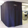 "FLEX-GUARD™ Laser Safety Curtain Barrier, Plus Power, Black, 9'6""W x 7'H -- SLC250WB97"