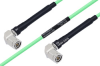 Temperature Conditioned TNC Male Right Angle to TNC Male Right Angle Low Loss Cable 48 Inch Length Using PE-P142LL Coax -- PE3M0170-48 -Image