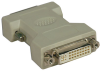 DVI-I to DVI-D Dual Link Video Cable Adapter (F/M) -- P118-000