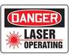 MRAD022VP - Safety Sign, Danger - Laser Operating, 10