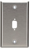 Stainless Steel Wallplate, DB9, Single-Width, 1-Punch -- WP070 -Image