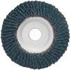 Merit ZA Coarse Center Mount Aluminum Conical Flap Disc -- 08834193431 - Image
