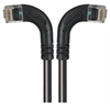 Category 6 LSZH Right Angle Patch Cable, Right Angle Left/Right Angle Right, Black, 3.0 ft -- TRD695ZRA8BLK-3 -Image