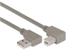Right Angle USB Cable, Right Angle A Male/Right Angle B Male, 4.0m -- CA90RA-90RB-4M -Image