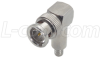 75 Ohm BNC Crimp Plug, Right Angle for RG59 and RG62 Cable -- BAC706