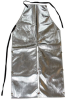 Chicago Protective Apparel Aluminized Rayon Welding & Heat-Resistant Apron - 24 in Width - 48 in Length - 550-AR-48-SW -- 550-AR-48-SW - Image