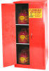 Flammable Liquid Self- Close Safety Storage Cabinet -- CAB120-RED
