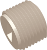 3/8-18 NPT Commercial Grade Slotted Thread Plug, Natural -- AP03SPLG37518N - Image