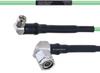 Temperature Conditioned Low Loss RA SMA Male to RA TNC Male Cable LL160 Coax in 24 Inch -- FMHR0200-24 -Image