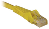 Cat6 Gigabit Snagless Molded Patch Cable (RJ45 M/M) - Yellow, 15-ft. -- N201-015-YW