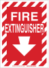 Brady Rectangle White Fire Equipment Sign - TEXT: FIRE EXTINGUISHER - 73661 -- 754473-73661