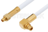 MMCX Plug to MMCX Plug Right Angle Cable 24 Inch Length Using RG188 Coax, RoHS -- PE34889LF-24 -Image
