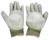 Conductive Glove, Palm coated w/Polyurethane, Medium -- 2523-SF-04M